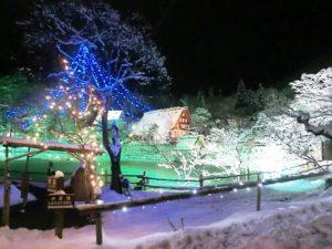 飛騨の里 クリスマス ライトアップ
